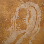 "Original Art , Female Figure in Travertine(sand blast ""After"" by Marcy Ann Villafaña"