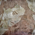"Original Art , Female Figure in Indian Bark Papers ""Marcy"" by Marcy Ann Villafaña"