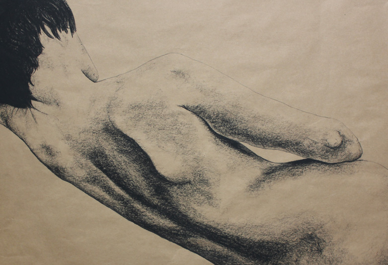 """Original Art, Nude Art Female - Charcoal - Graphite drawing """"I'm Not Yours"""" by Marcy Ann Villafaña"""