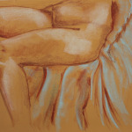 "Original Art , Bone study - Pastel ""BLEU CHAIR"" by Marcy Ann Villafaña ""JUST the LEGS"" 25"" x 19"" Pastels 2013"