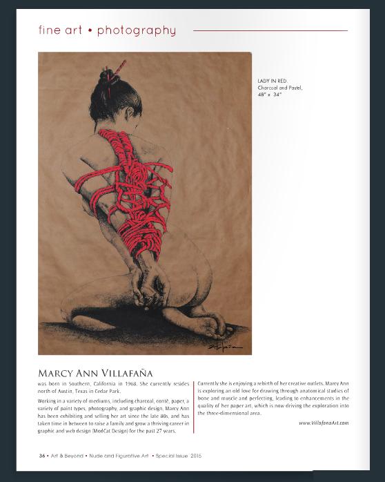 """""""LADY IN RED"""" by Marcy Ann Villafaña"""