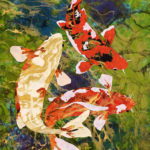 """BEING KOI"" Water art by Fine Artist Marcy Ann Villafana"