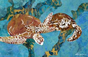 """""CARIBBEAN JOURNEY"" Ocean art by Fine Artist Marcy Ann Villafana"