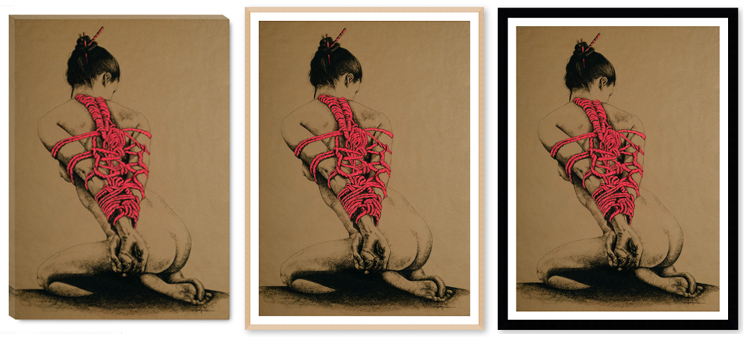 """"""" LADY IN RED"""" print options"""